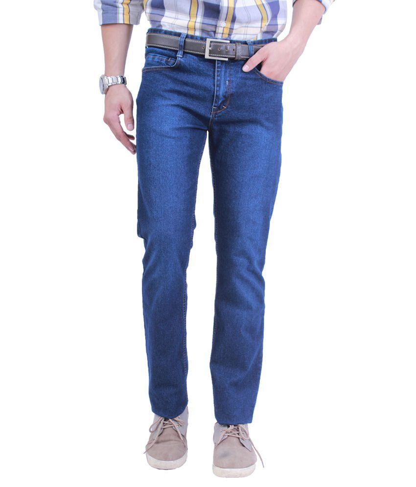 Uber Urban 100% Poly Cotton Regular Fit Jeans For Men
