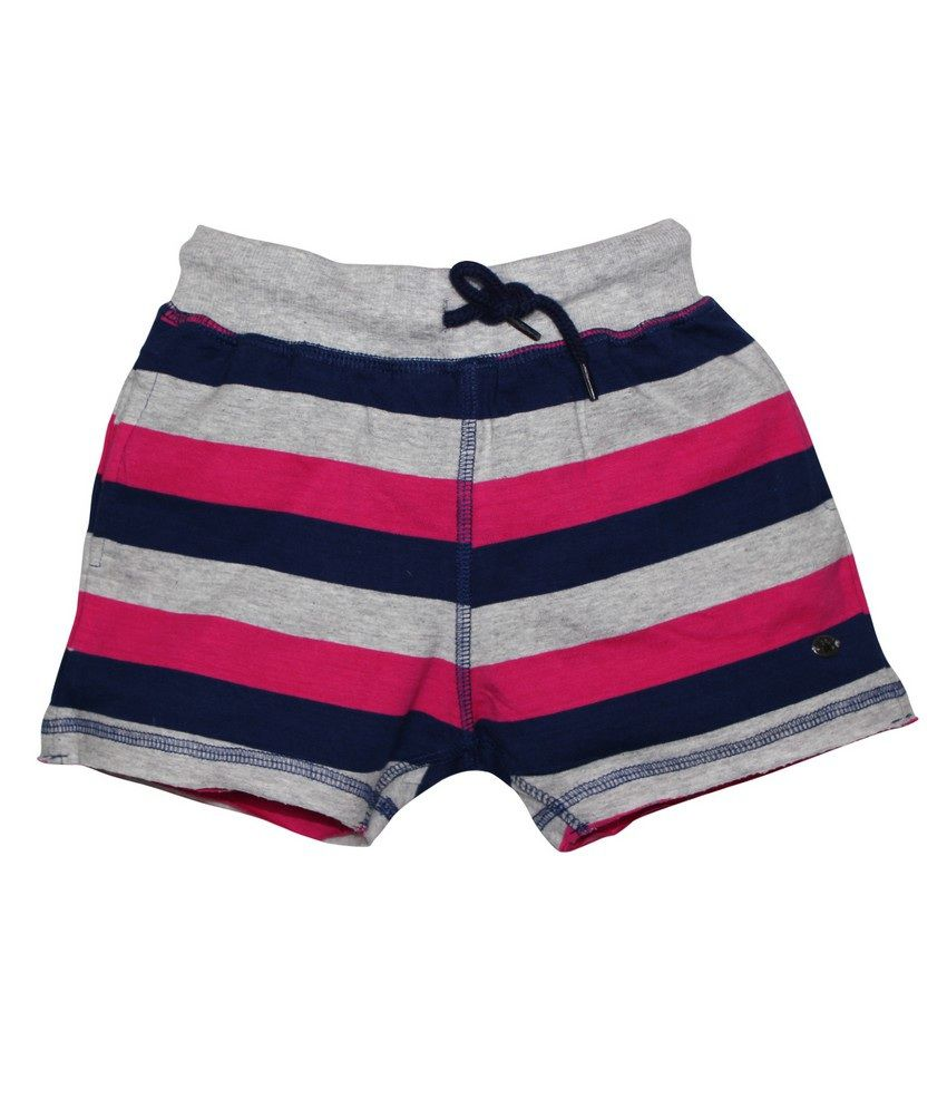 FS Mini Klub Pink Striper Knit Shorts