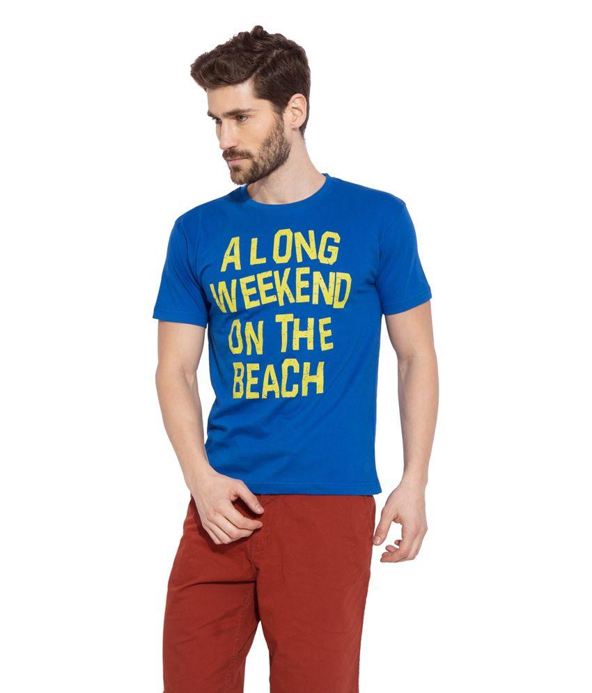 Globus Blue Cotton T-Shirt