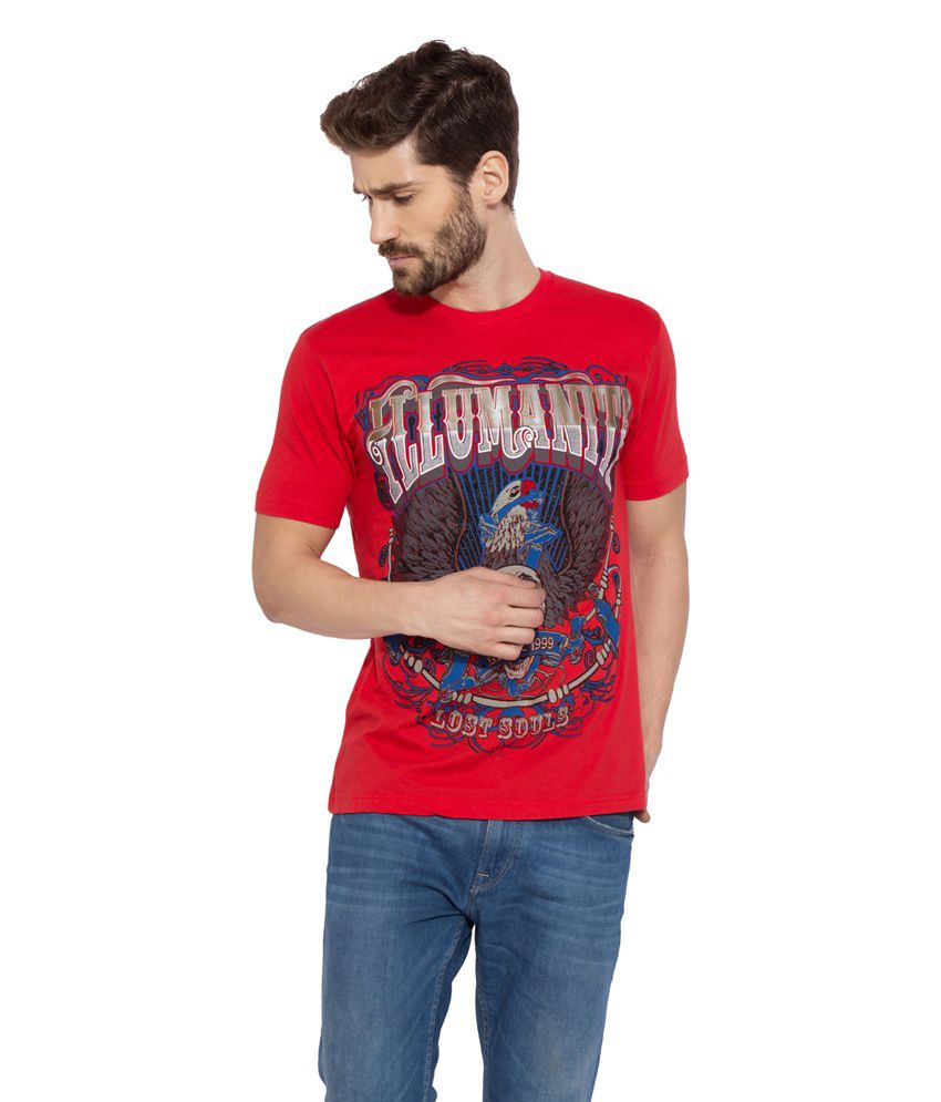 Globus Red Cotton T-Shirt