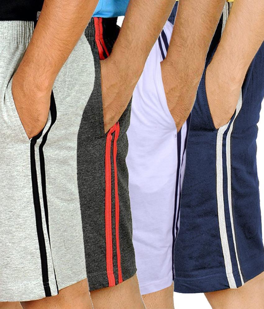 Kritika new multicolor cotton short pack of 3