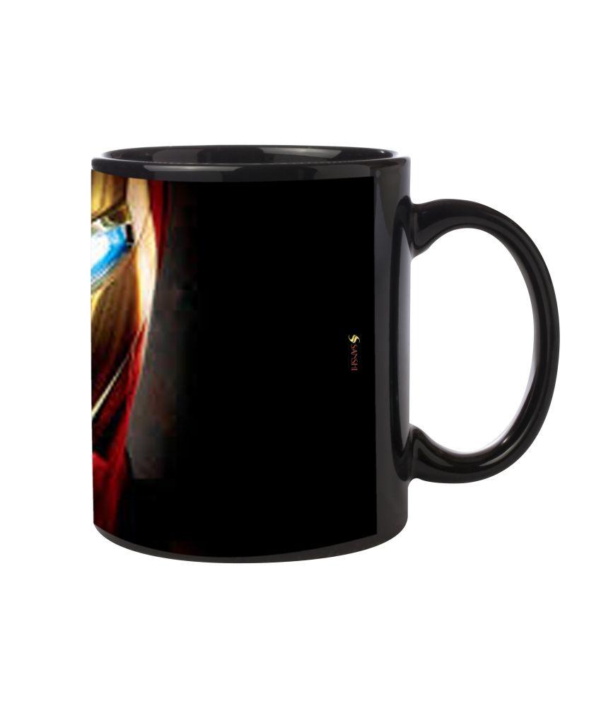 Sanshi Ceramic Black Ganpati Bappa Maurya Coffee Mug