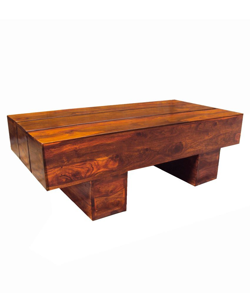 Solid coffee table mission style solid wood rectangular for Solid wood coffee table