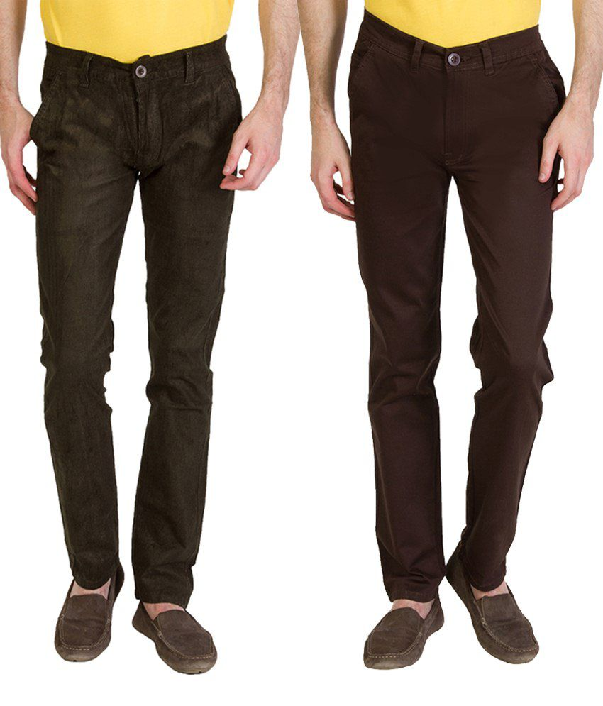 Bloos Jeans Eye Catching Combo Of 2 Black Chinos For Men