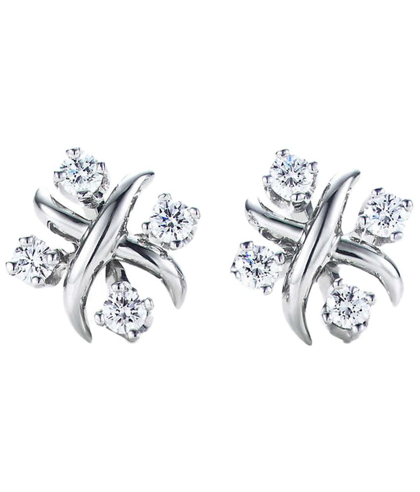 Ziveg Enticing Sterling Silver Swarovski Stud Earrings