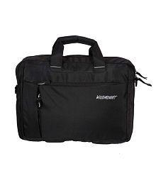 Wildmount Black Polyester Laptop Bag