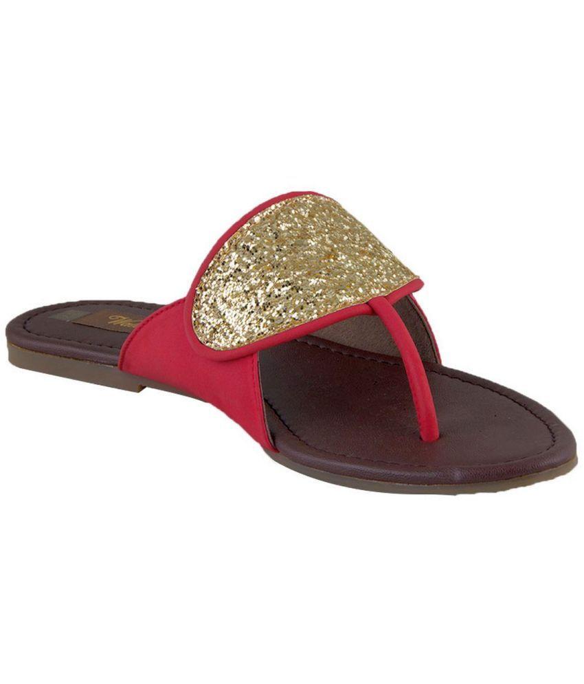 Waltz Red Flat Sandals