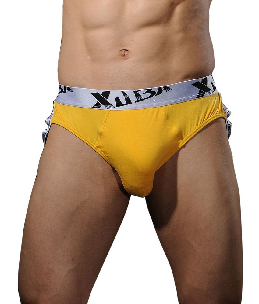 Xuba Mens Underwear Yellow Jockstrap Trunk Brief - Buy Xuba Mens ...
