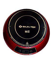 Bajaj 1200W Mini Induction Cooktop-Red