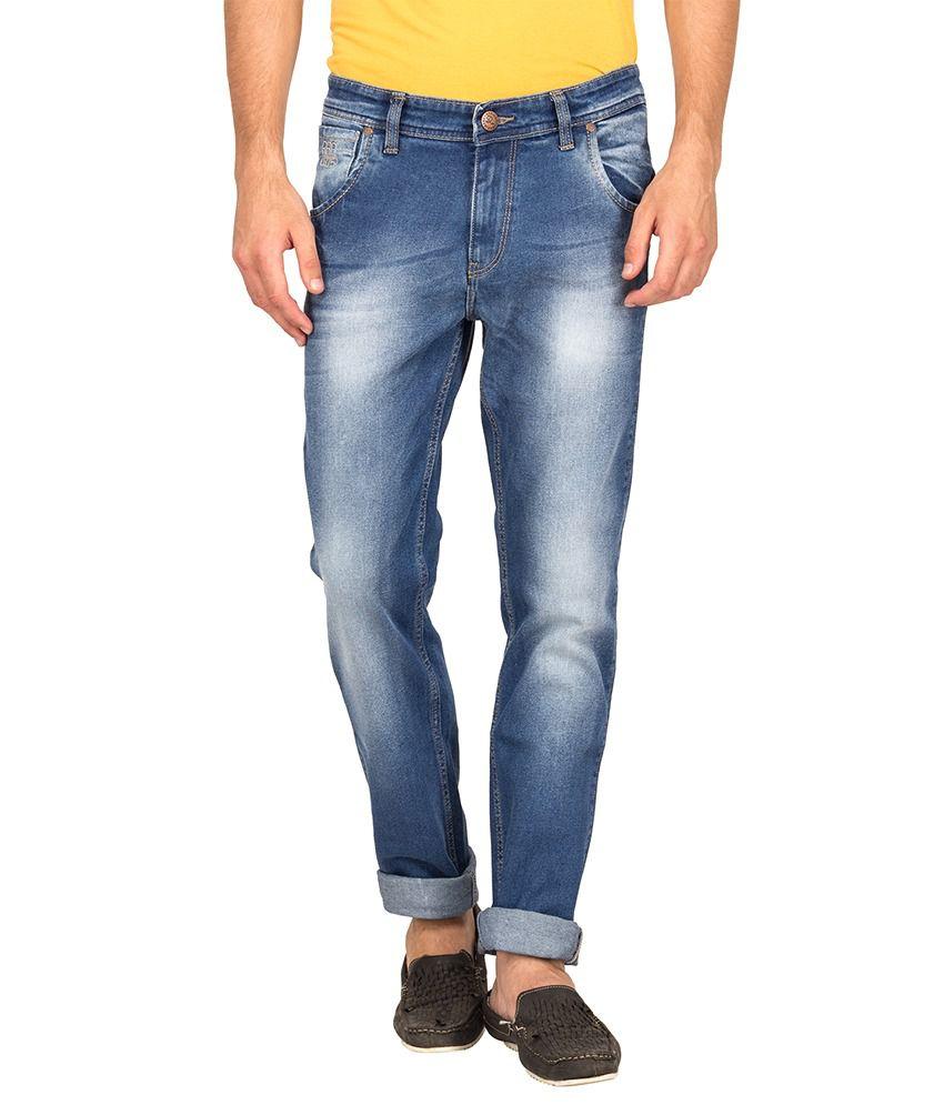 Raa Jeans Blue Cotton Stretchable Denim Jeans