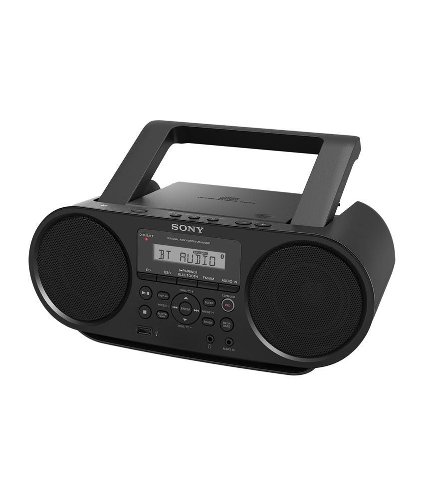 buy sony zs rs60bt mp3 cd radio player with usb black. Black Bedroom Furniture Sets. Home Design Ideas