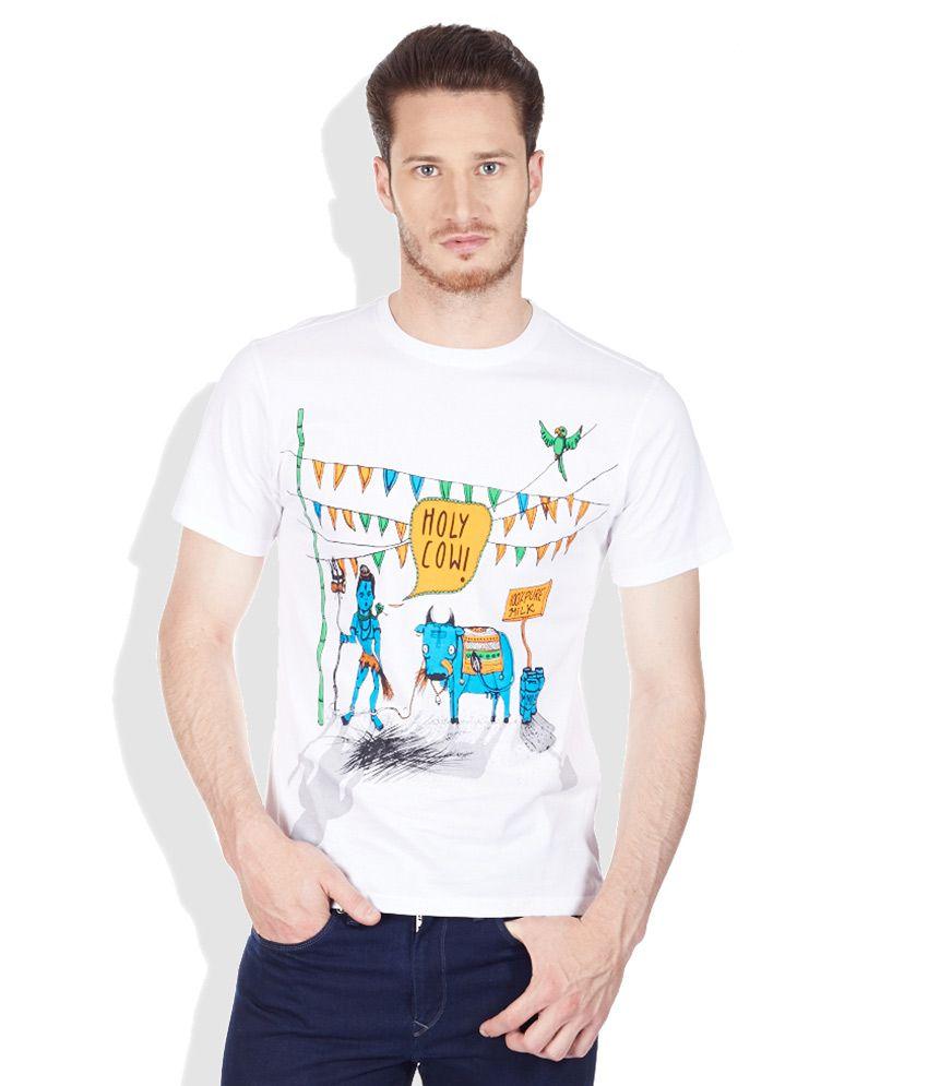 Colt White Round Neck T-Shirt