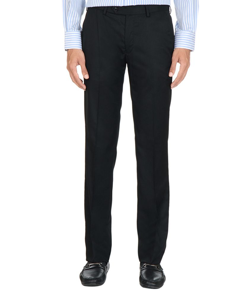 Van Heusen Formal Slim Fit Solid Trousers