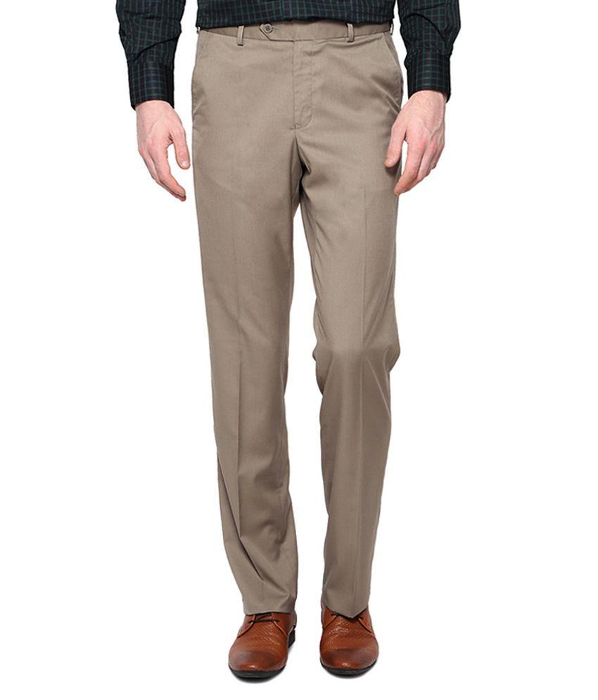 Van Heusen Khaki Flat Front Pants