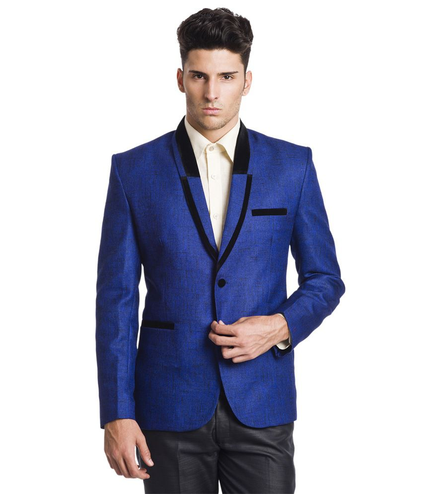 Wintage Kingly 2-Button Blue Blazer