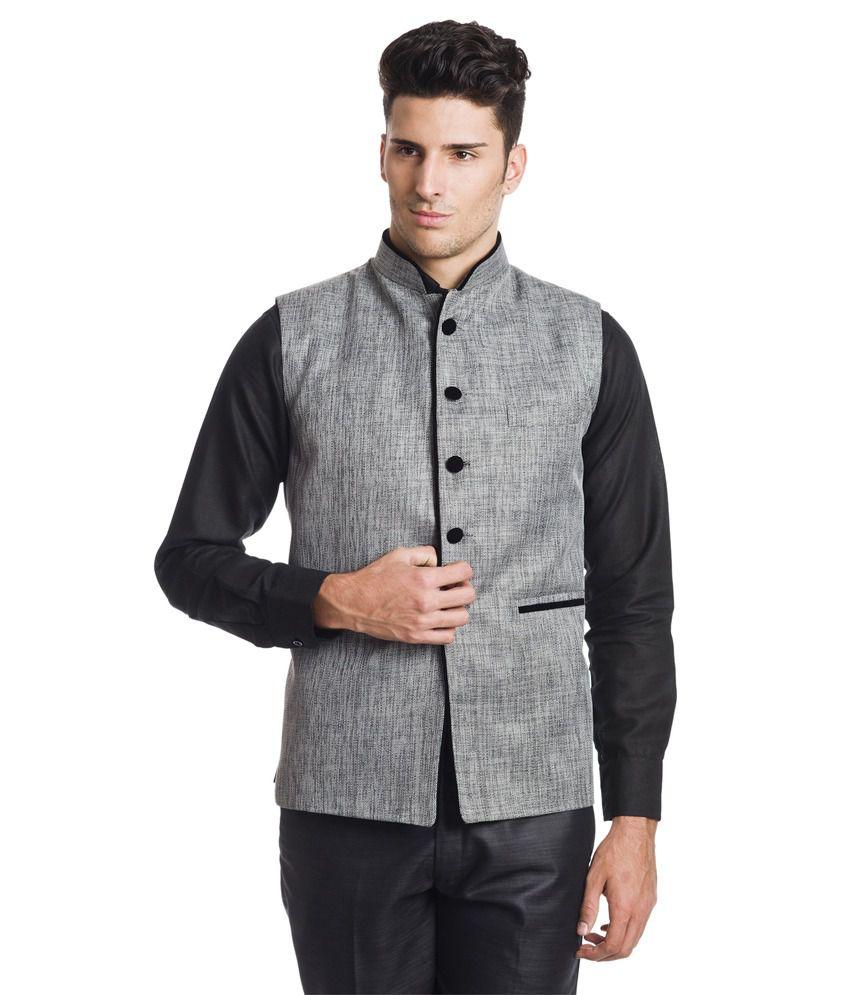 Wintage Princely Dark Grey Waistcoat