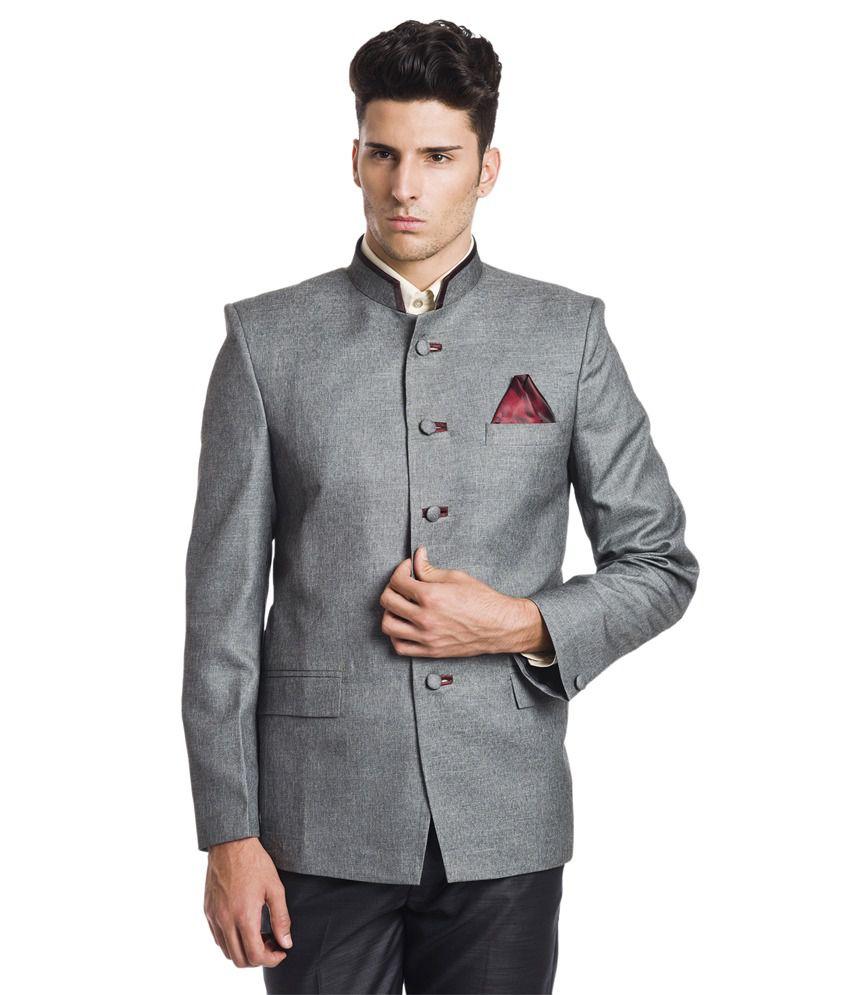 Wintage Princely Grey Bandhgala Blazer