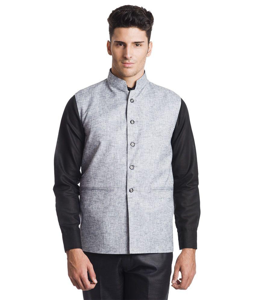 Wintage Regal GreyBlack Waistcoat