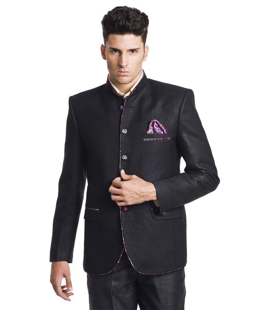 Wintage Royal Black Festive Blazer