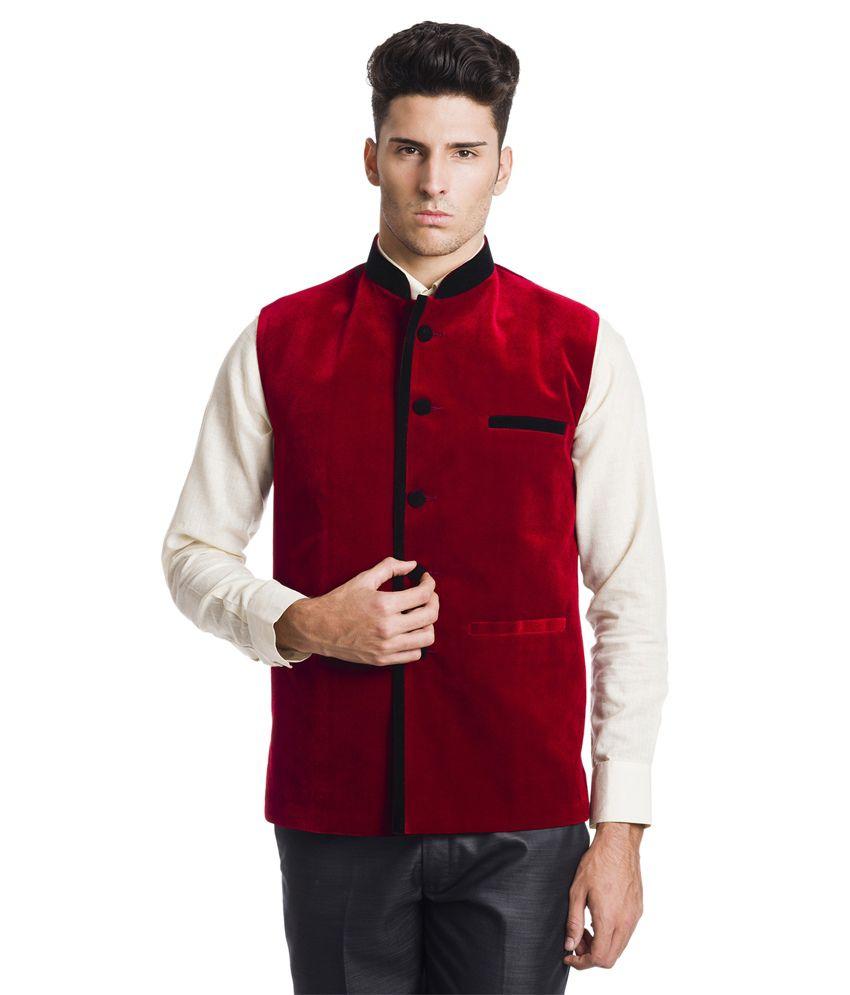 Wintage Royal Red Velvet Waistcoat
