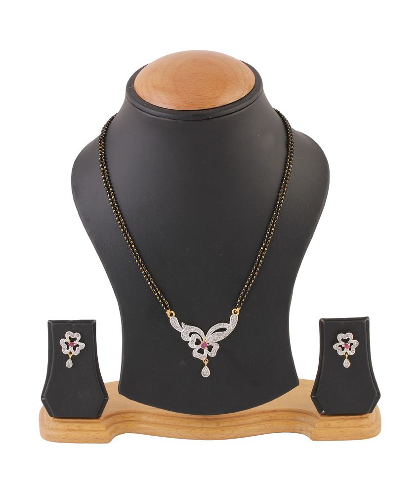 Natraj Art American Diamond Mangalsutra Set