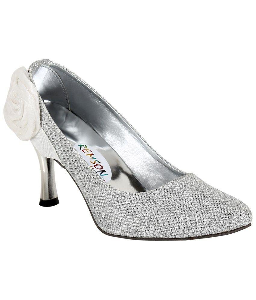 Stylish Step Silver Satin Pointed Toe Heeled Slip-ons