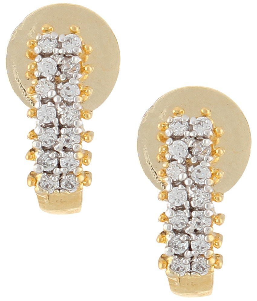 Archi Collection White Alloy Jhumkis