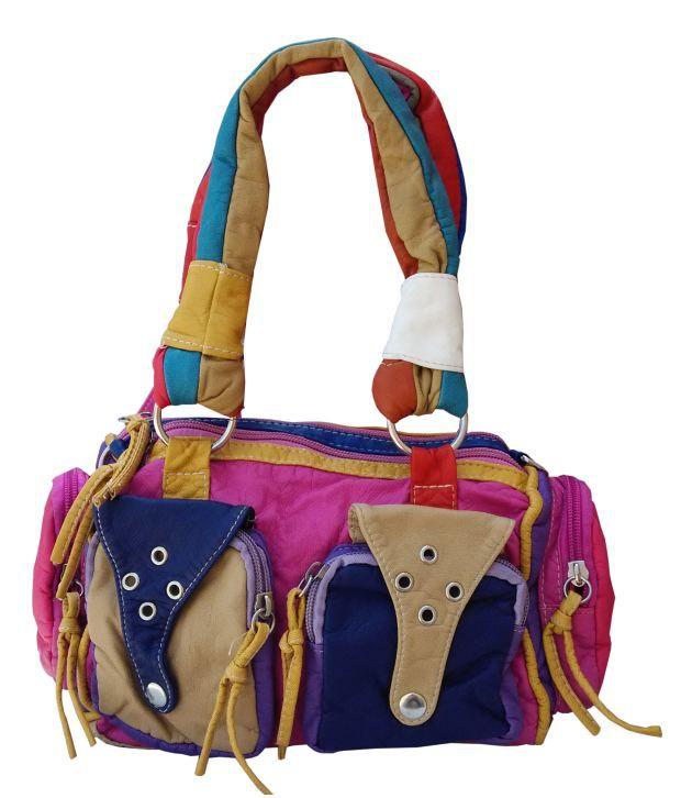 D Jindals Pink Handbag