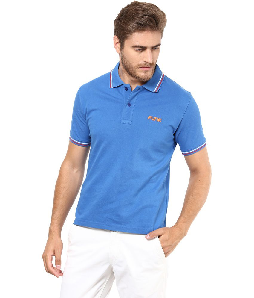 Funk Blue Cotton Basics T-Shirt