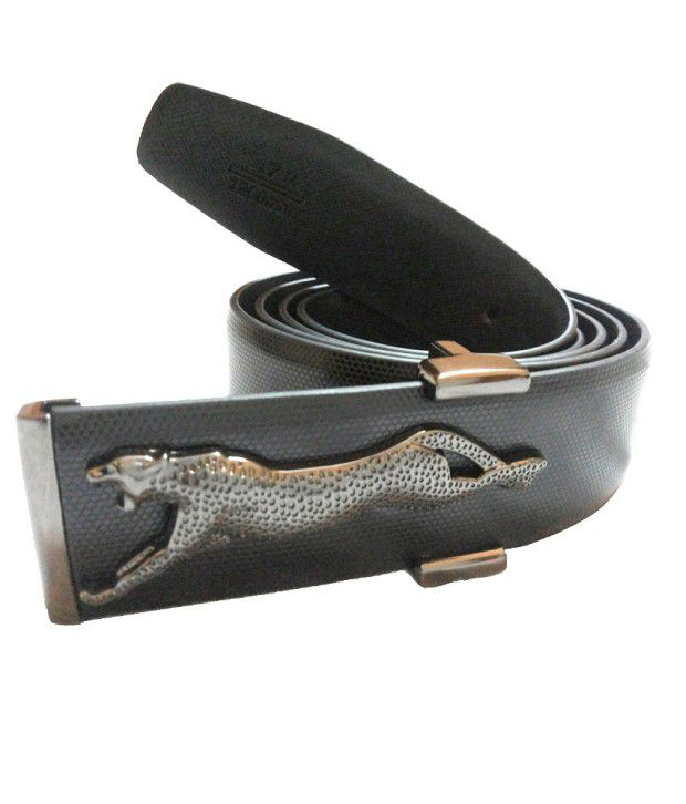 Mode Genuine Leather Casual Black Color Auto Lock Belt For Men