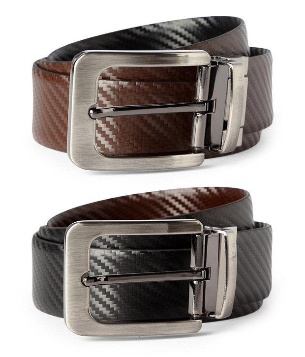 Van Heusen Black Casual Reversible Belt