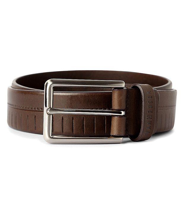 Van Heusen Brown Textured Belt