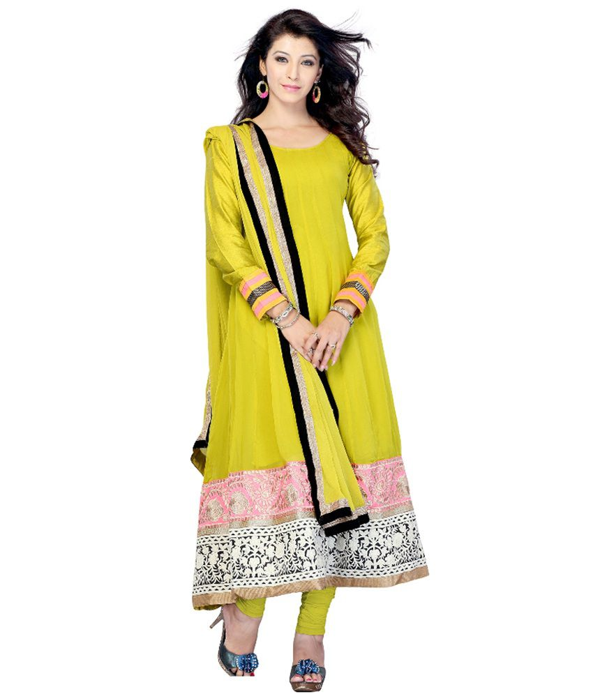 Hari Silk fashion Green Pure Georgette Stitched Suit