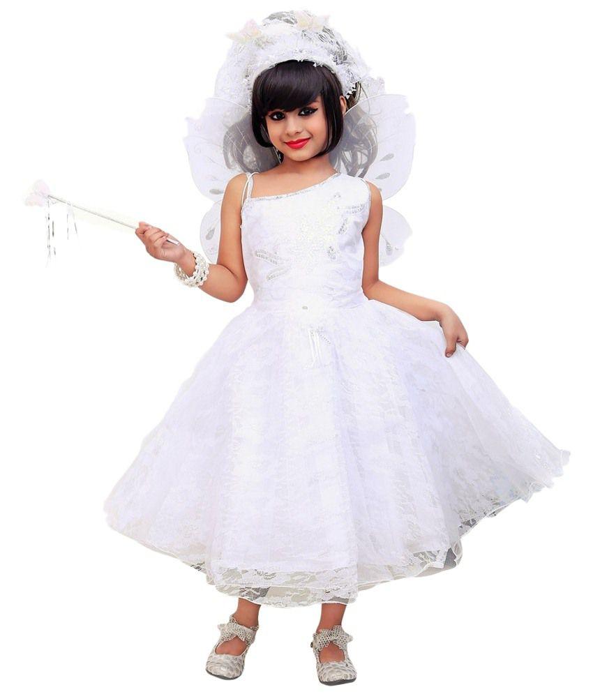 6987df0005 Aarika White Frock For Kids