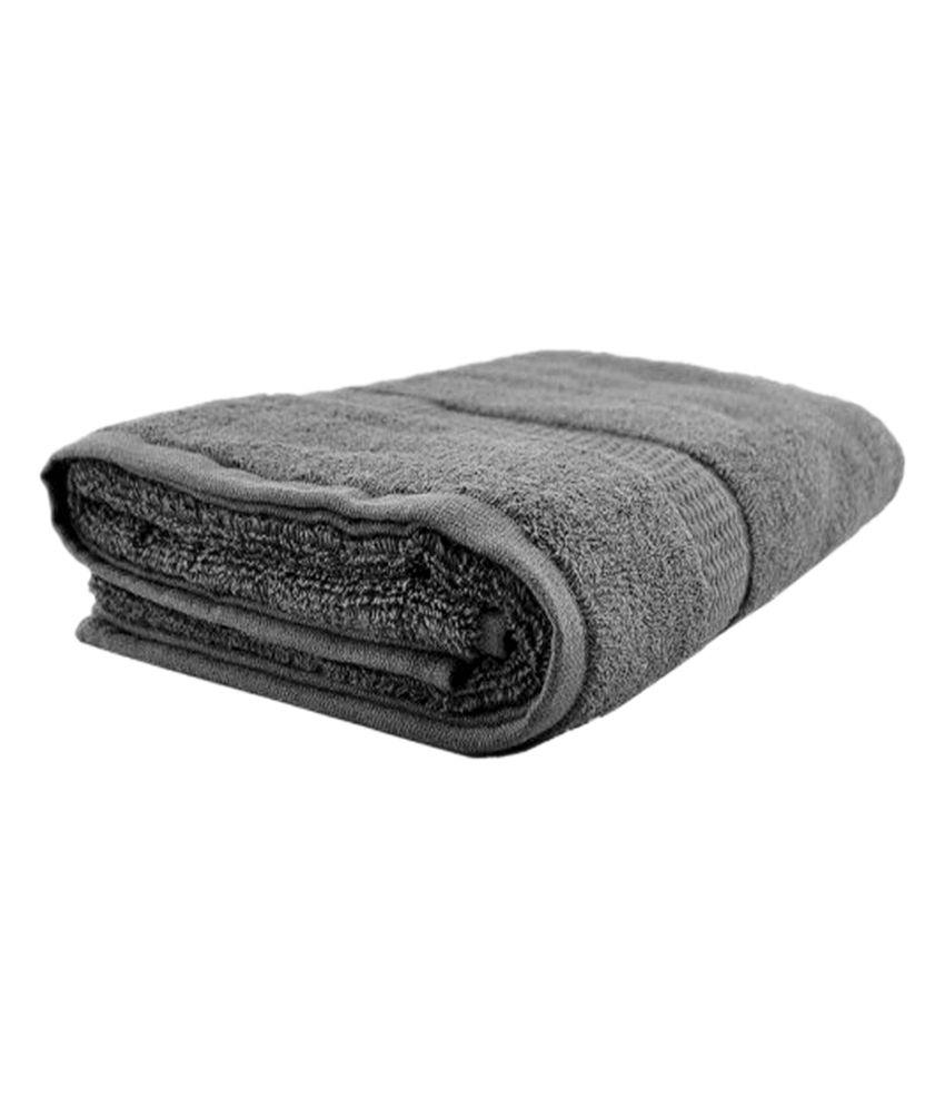 New Ladies Zone Light Gray Cotton Plain Towel Set