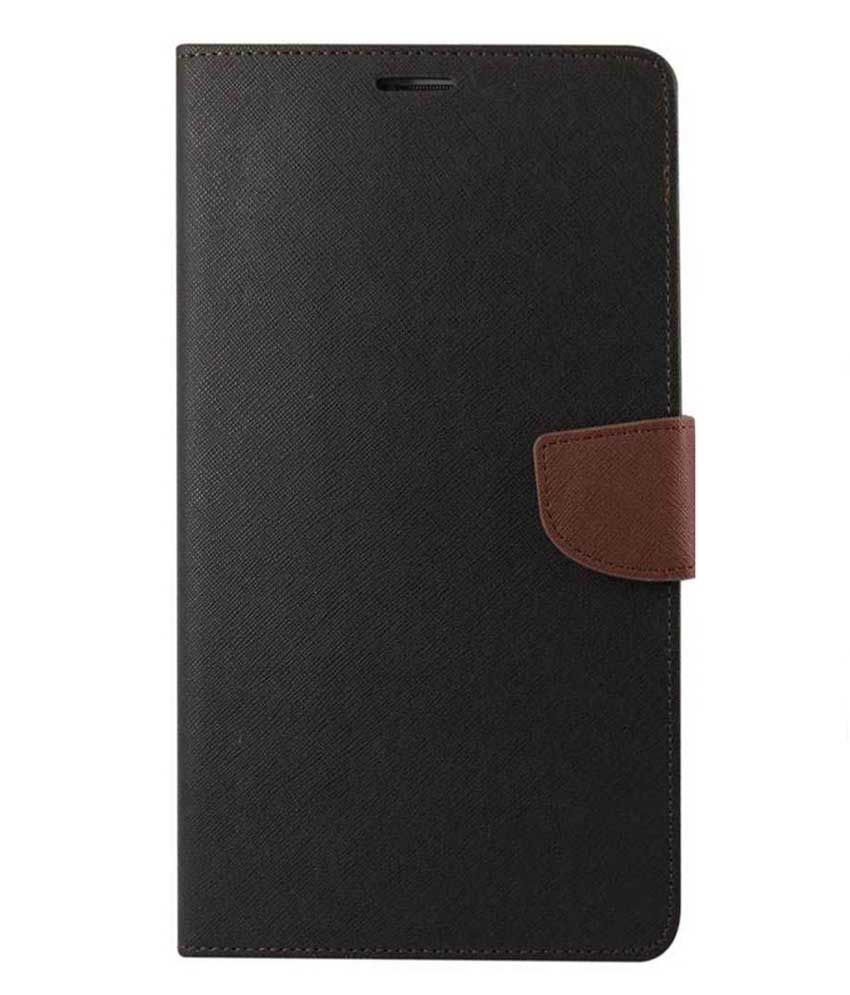 Alexis24 Leather Flip Cover For Samsung Galaxy S4 Mini - Black