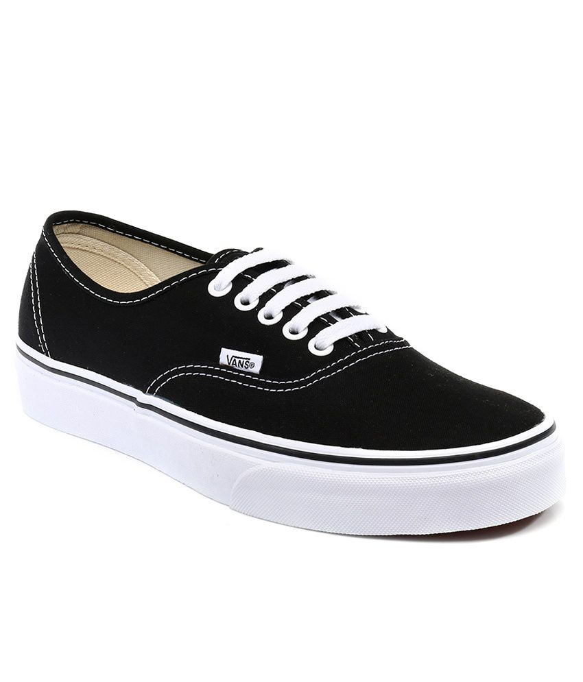 2834ab426a VANS Black Canvas Shoes - Buy VANS Black Canvas Shoes Online at Best Prices  in India on Snapdeal