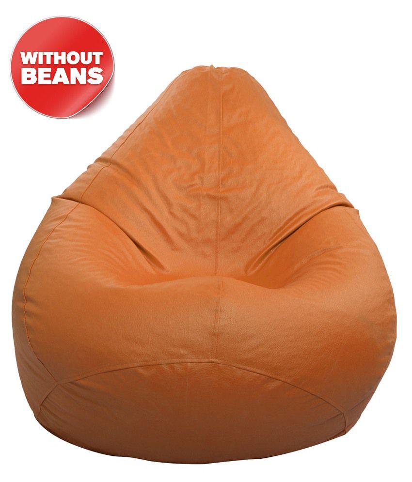 Bean Bag Cover In Orange L Buy Bean Bag Cover In Orange