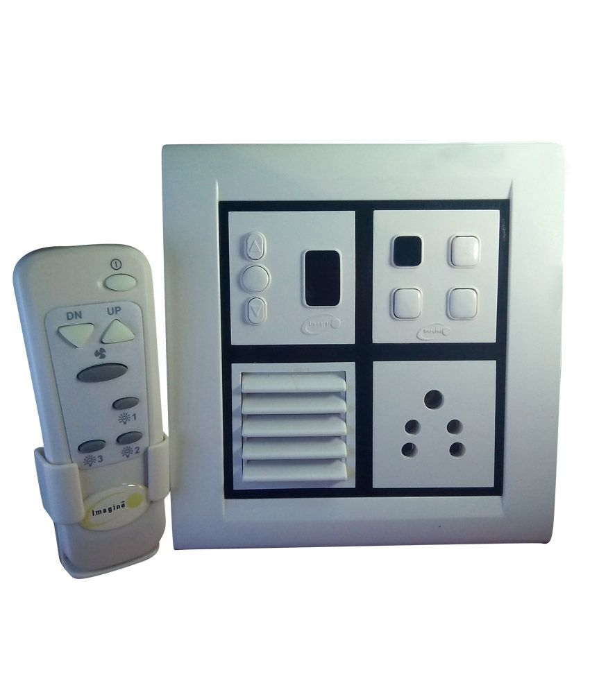 Buy Imagine Remote Control Switch Board for three light one fan with ...