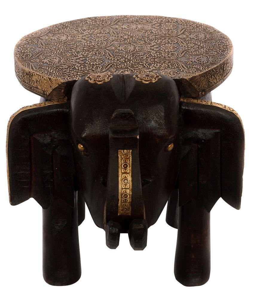 Astounding Ecraftindia Multiutility Wooden Elephant Stool For Decoratives Onthecornerstone Fun Painted Chair Ideas Images Onthecornerstoneorg