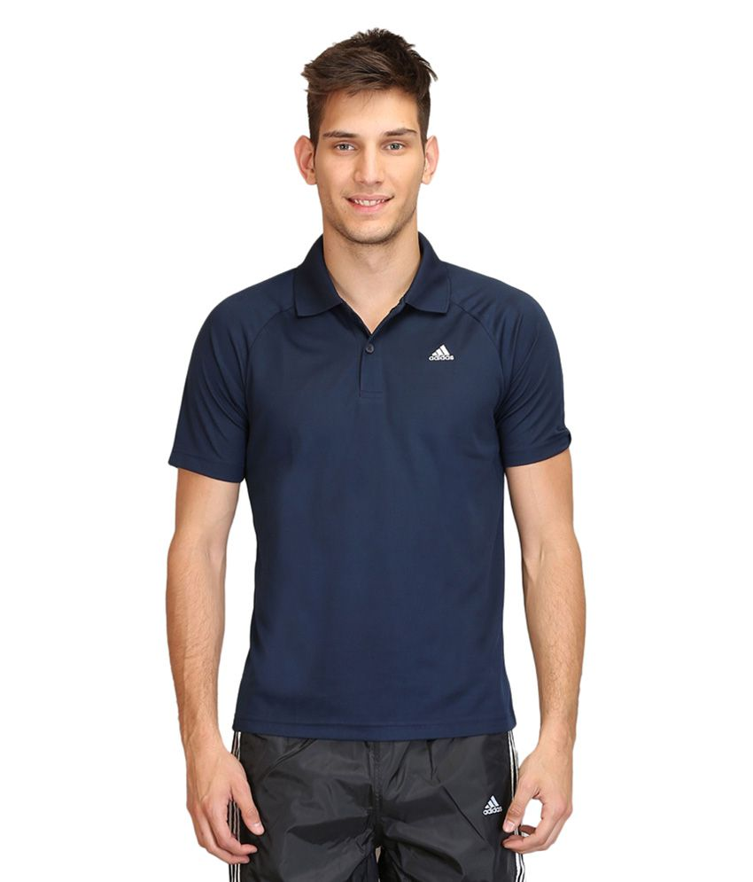 Adidas Navy Polo T Shirts (Single Pack)