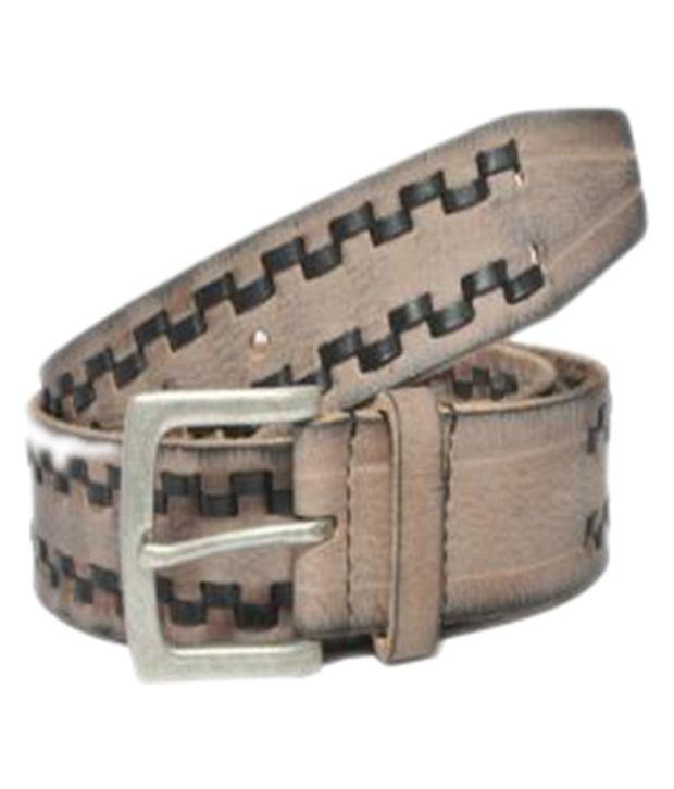 Fadoak Brown Leather Belt for Men