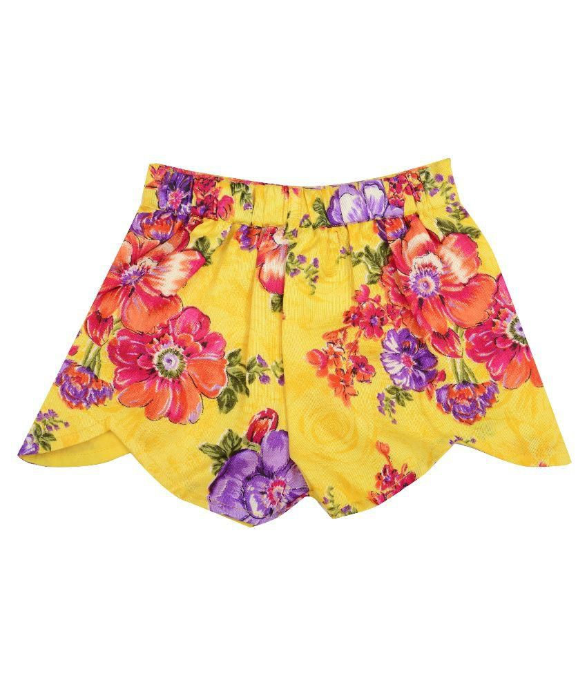 Naichi Yellow Baby Shorts