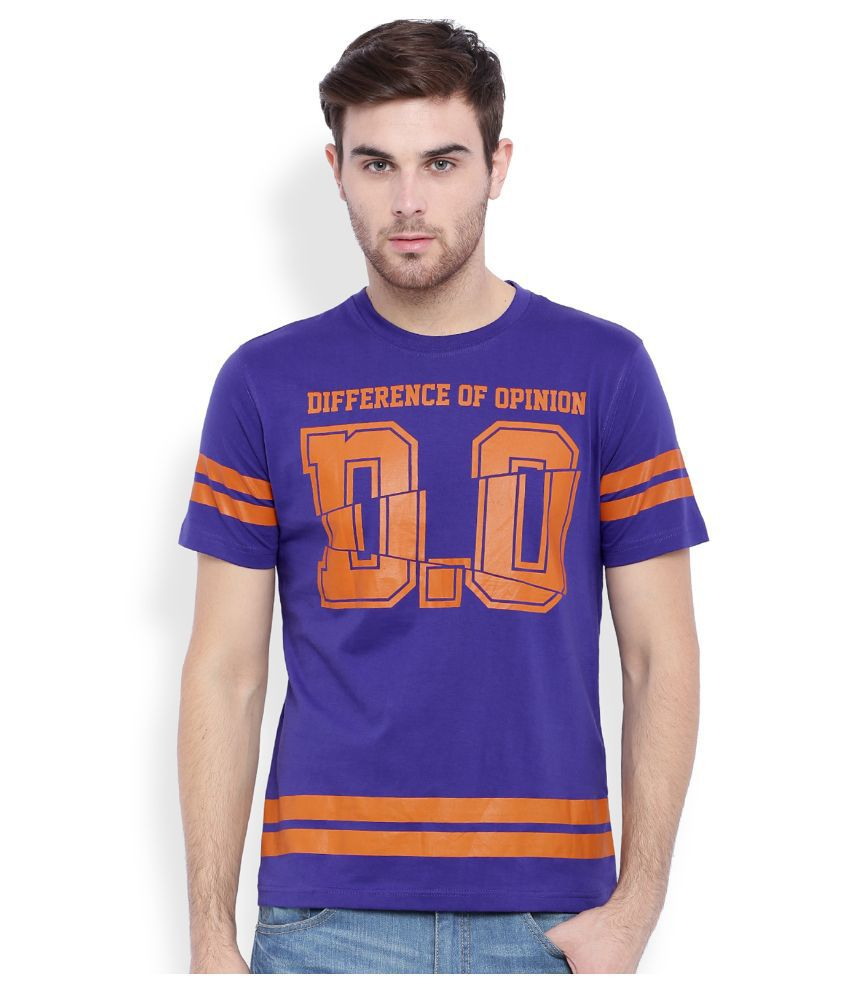 Difference Of Opinion Purple Round T Shirt