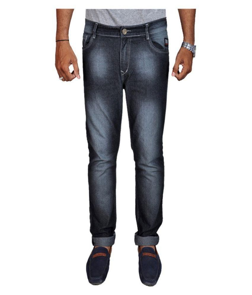 White Pelican Black Slim Fit Faded Jeans
