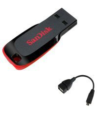 SanDisk Cruzer Blade 8 Gb Pen Drives Black