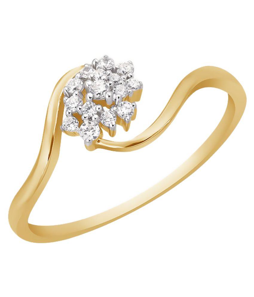 Kama Jewellery 18Kt Yellow Gold Diamond Ring