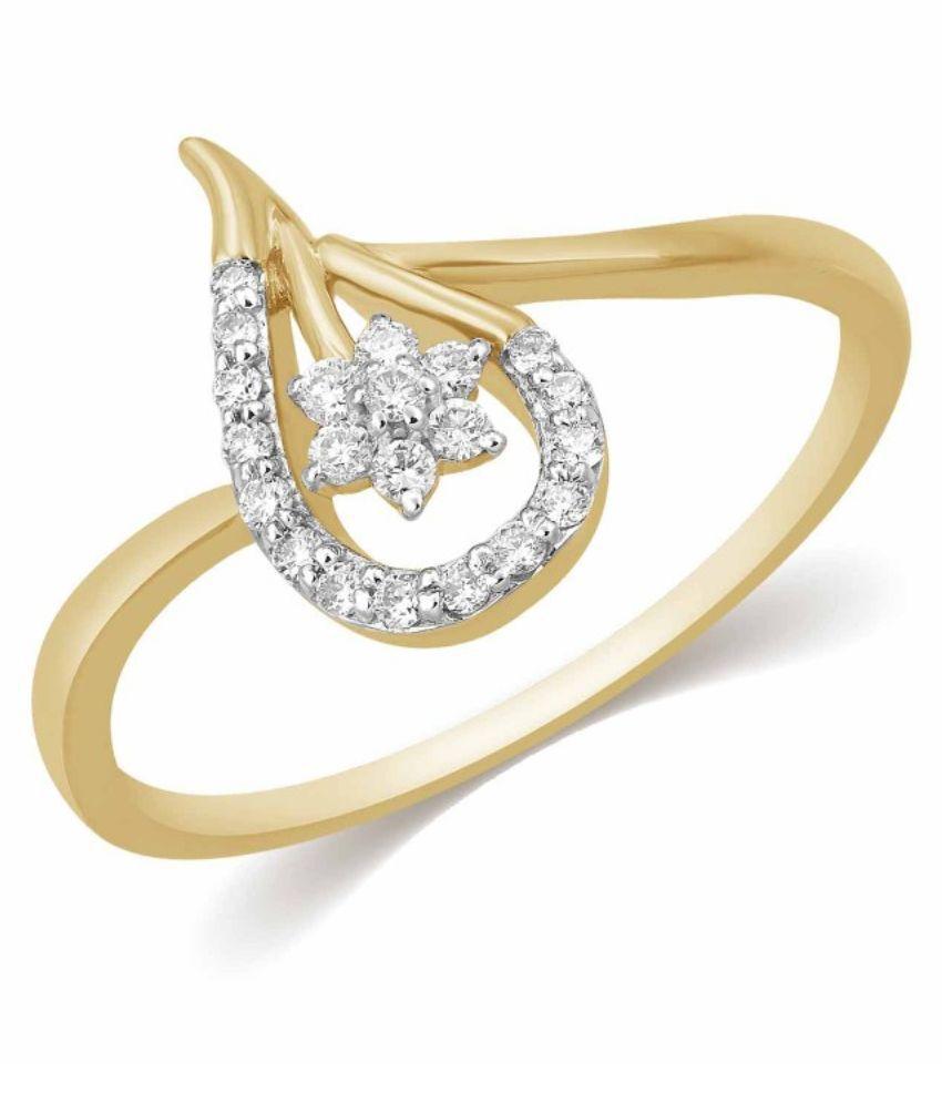 Kama Jewellery BIS Hallmarked 18kt Yellow Gold Ring