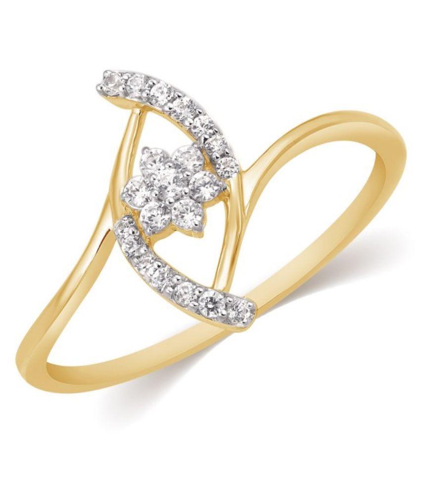 Kama Jewellery Yellow Gold 18Kt Diamond Ring