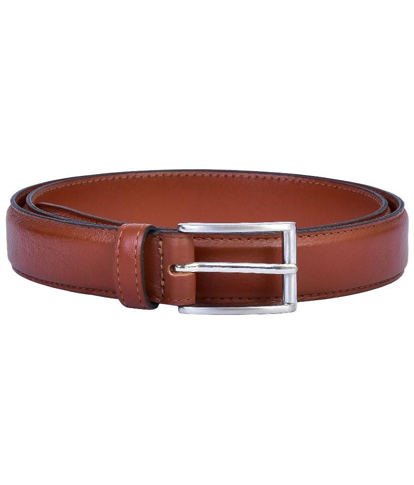 LaFaas Brown Leather Belt for Men